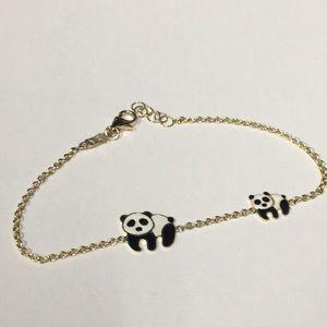 "Jewelry - 14k Gold 6"" Panda Bracelet"